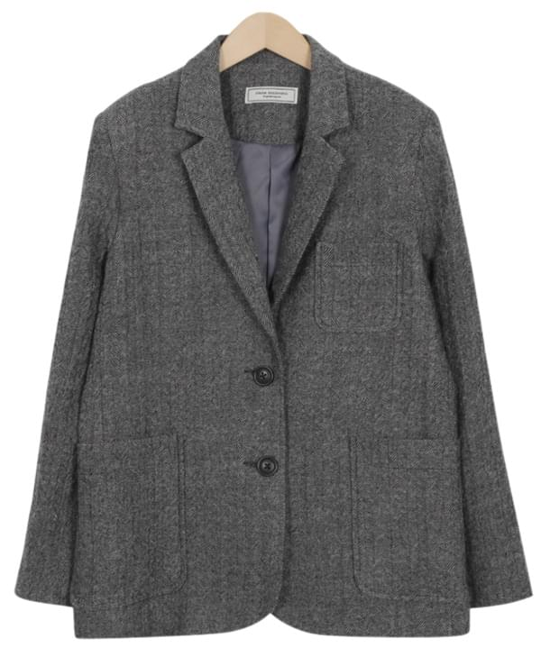 Made_outer-090_herringbone wool jacket (size : free) 夾克外套