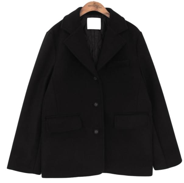 HAND MADE WOOL 50% STAND JACKET