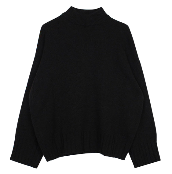 Basic half neck knit (4color)