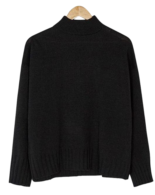 half-neck basic knit