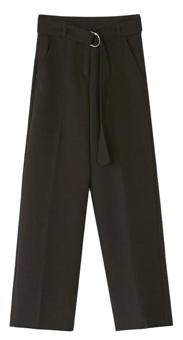 belt set boots-cut slacks