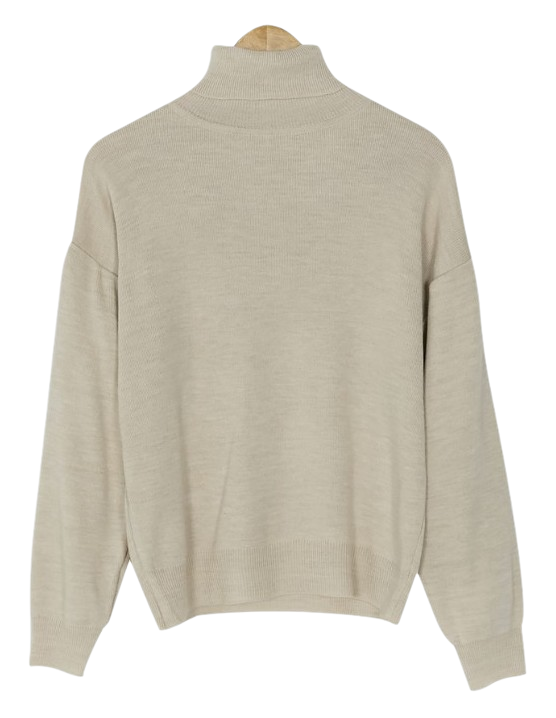smooth turtle neck knit