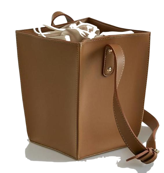 solid square shoulder bag