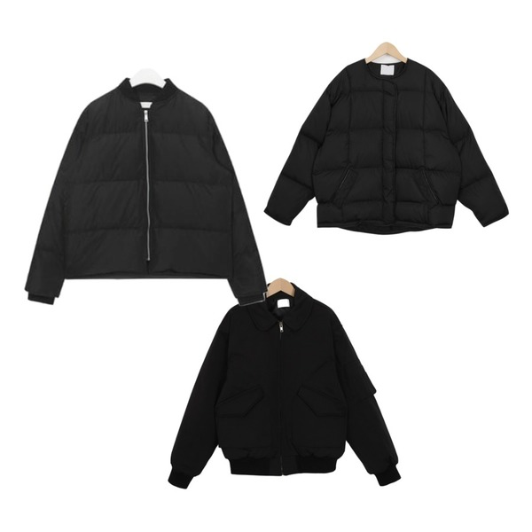 AIN FRESH A winter short padding,From Beginning Collar bomber jacket_S (size : free),From Beginning Collarless short padding jumper_M (size : free)등을 매치한 코디