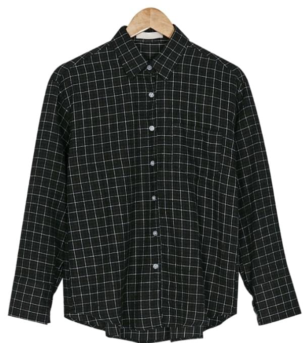 latte loose fit check shirts
