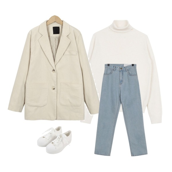 MINIBBONG 슈팅 스니커즈,biznshoe Basic turtle-neck (3color),From Beginning Corduroy quilt jacket_S (size : free)등을 매치한 코디