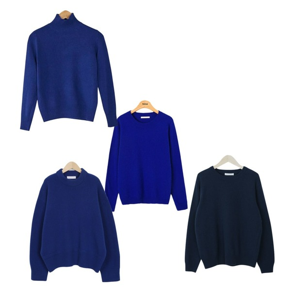 From Beginning Middle neck wool knit_H (size : free),BANHARU normal turtleneck knit,Reine 팔레트 베이직 앙고라 니트등을 매치한 코디