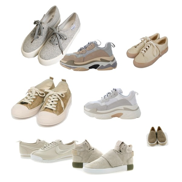 AIN all day suede sneakers (230-250),LOVELY SHOES 트리플 스니커즈 6cm,LOVELY SHOES 트리플 스니커즈 6cm등을 매치한 코디