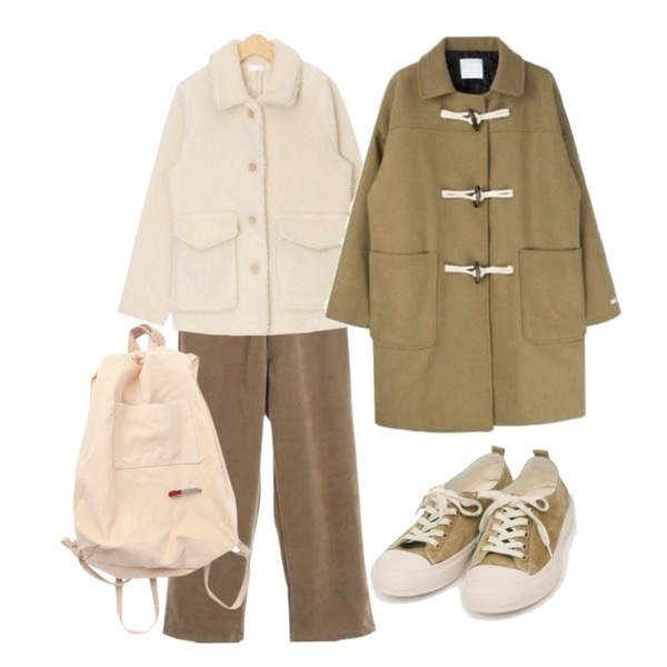 AIN all day suede sneakers (230-250),AIN dinky bumble jumper,ROCOSIX comfort band cotton pants등을 매치한 코디