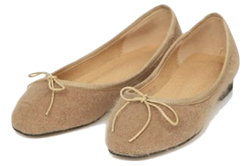 angora ribbon flat shoes (230-250)