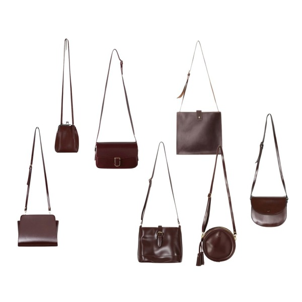 ROCOSIX stitch point square bag,From Beginning Apply belt buckle bag_H (size : one),BANHARU classic gold buckle bag등을 매치한 코디