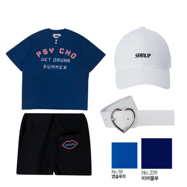 MIXXMIX Pocket Shorts,MIXXMIX Lip Buckle Ball Cap,5ㅅㅅ등을 매치한 코디