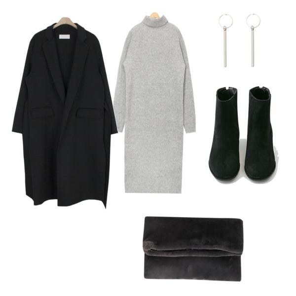 about moon [주문폭주]셀린 핸드메이드 코트 - wool 90%,AIN most wool side slit knit ops,BANHARU suede basic ankle boots등을 매치한 코디