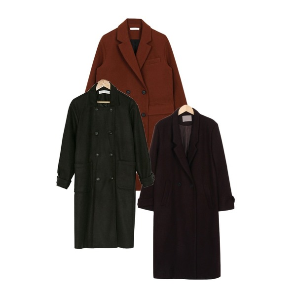 biznshoe Double button coat (3color),BANHARU wool loose fit coat,From Beginning Touch long wool coat_S (size : free)등을 매치한 코디