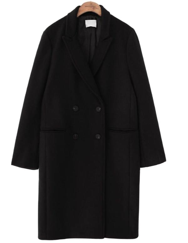 WOOL DOUBLE BUTTON COAT