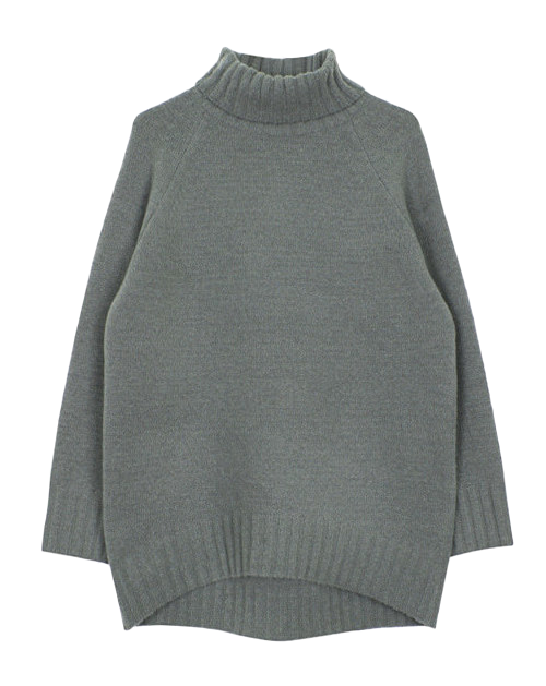 Raglan turtle knit (4color)