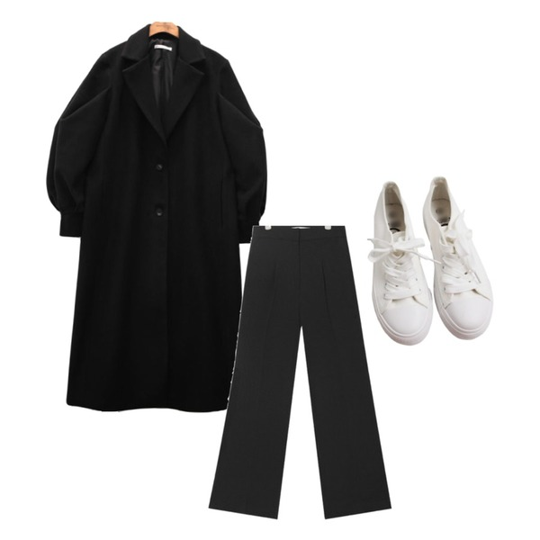 HI RIT 플렌 스니커즈 운동화,AIN ray long boots cut slacks (s, m),common unique [OUTER] WOOL PUFF BELT COAT등을 매치한 코디