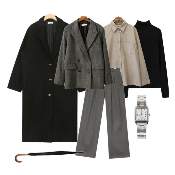 ABLY 베이직 기모폴라,AIN least detail daily coat,common unique [TOP] 7 COLOR NAPPING POCKET SHIRTS등을 매치한 코디