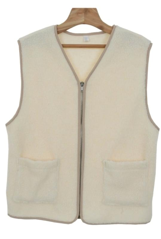 Dumble-fleece vest