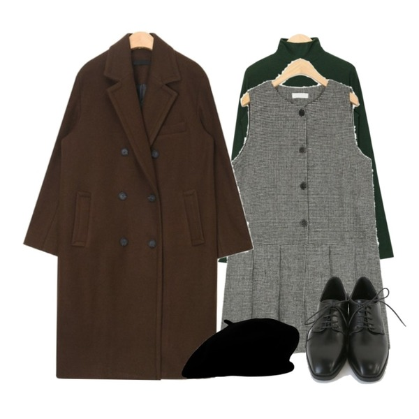 AIN mould fit polar T,AIN duo double coat,AIN someday graceful ops등을 매치한 코디