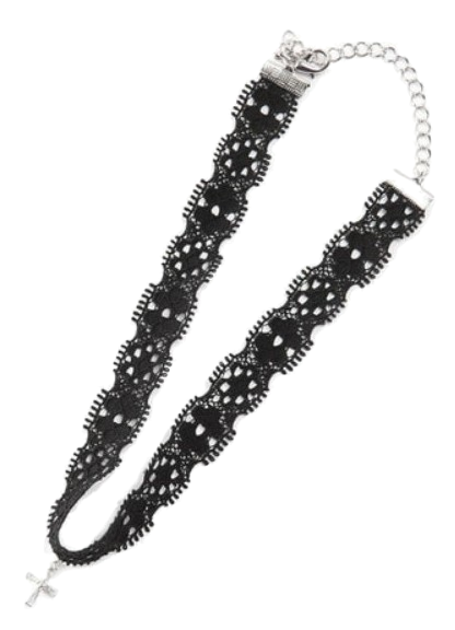 lace cross choker