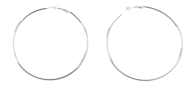 focus metal ring earring
