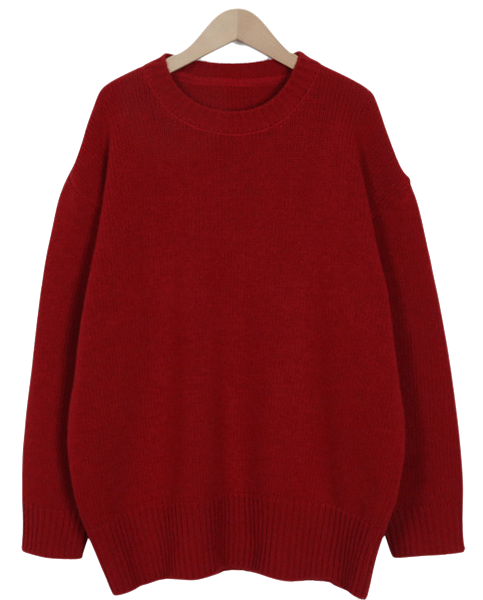 Holly round wool knit_H (size : free)