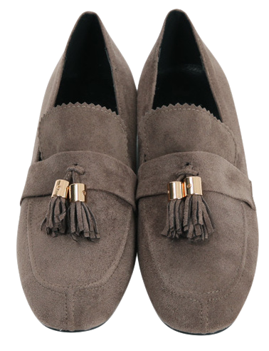 Suede tassel flat shoes_M (size : 225,230,235,240,245,250)