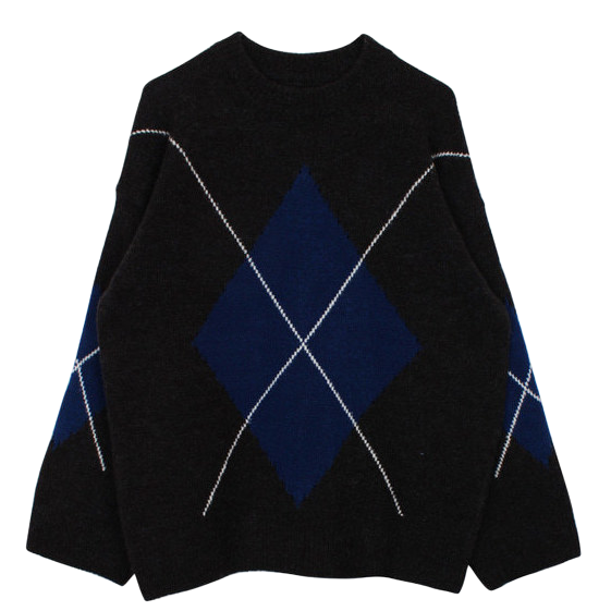 Argyle knit (2color)