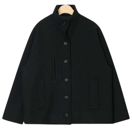 emo high neck wool jacket