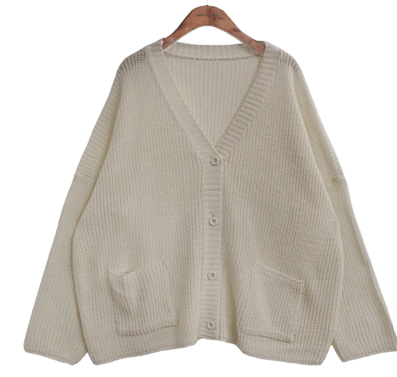 7 COLOR LOOSE FIT KNIT CARDIGAN