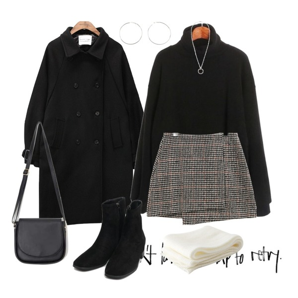 insta@thewriting,common unique [OUTER] RAGLAN TRENCH WOOL COAT,AIN apple shoulder bag등을 매치한 코디