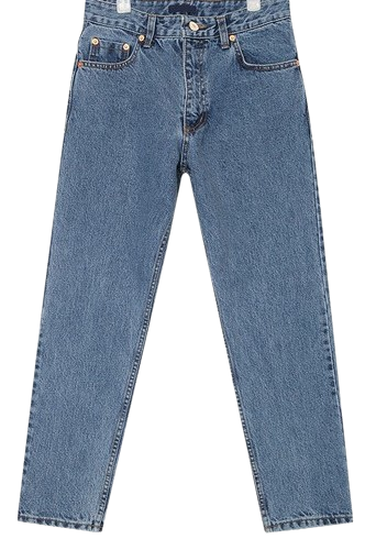 aron straight denim pants (s, m)