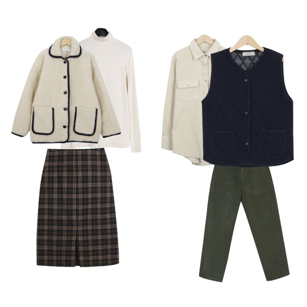 BANHARU maron pocket work wear pants,myblin 코듀로이 남방,daily monday Paper pola tee등을 매치한 코디