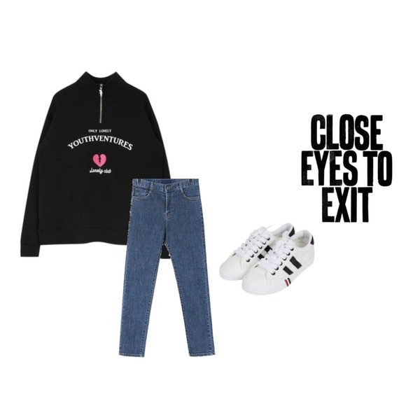 close eyes to exit,MIXXMIX Youth Ventures Anorak,daily monday Normal clean denim skinny등을 매치한 코디