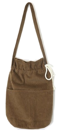 corduroy string bag