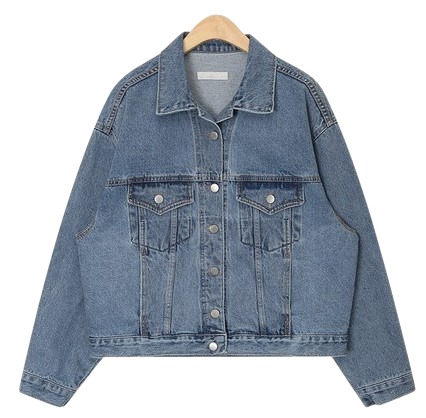 clean denim jacket