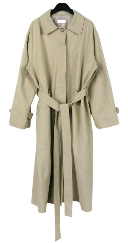 Loose single trench coat