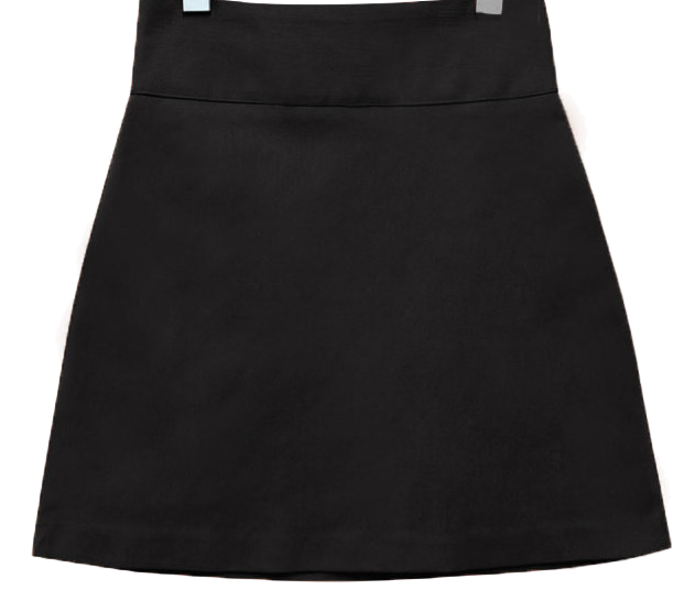HIGH WAIST A LINE MINI SKIRT