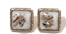 Antique frame jewel earring_M (size : one)