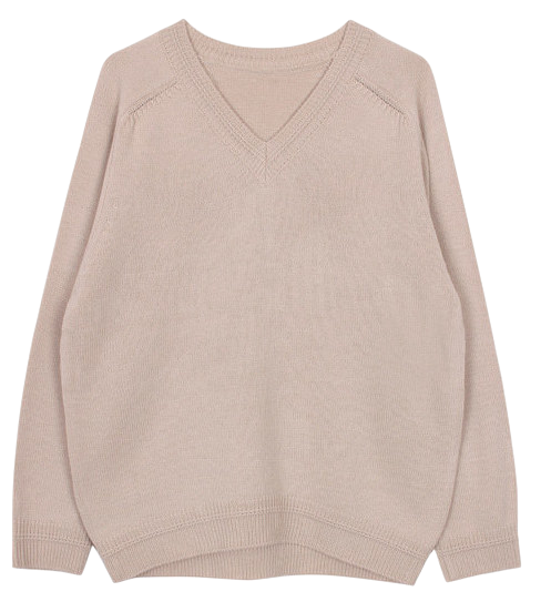 V-neck knit top (5color)