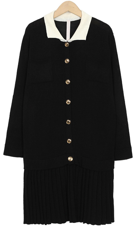 Lodge button knit ops_S (size : free)