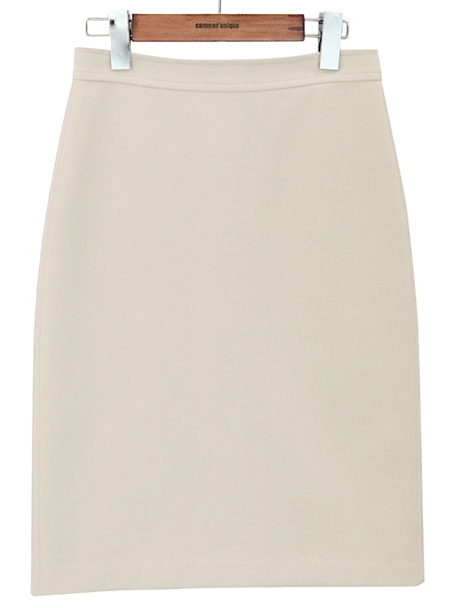 BASIC BACK SLIT MIDI SKIRTWITH CELEBRITY _ wear