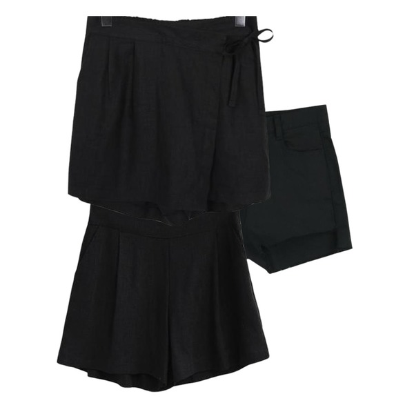 From Beginning Moi avocado culottes pants_H (size : free),ABLY 델리 린넨팬츠,about moon 언발란스 반바지 (2 color)등을 매치한 코디