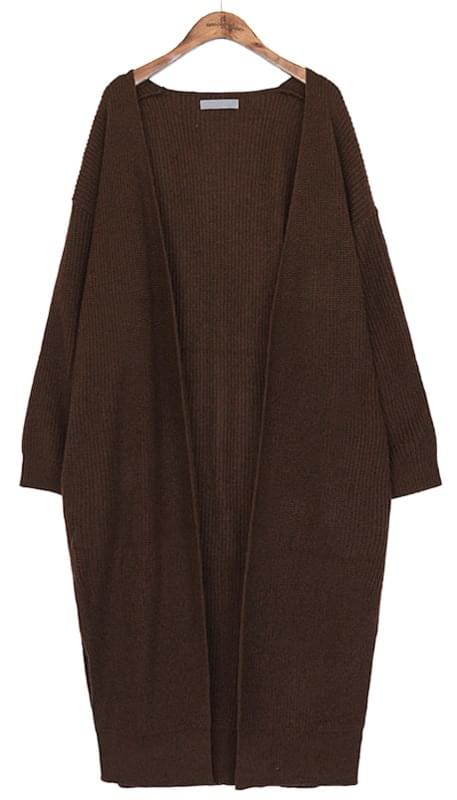 HAJJI DEEP SLIT LONG CARDIGAN