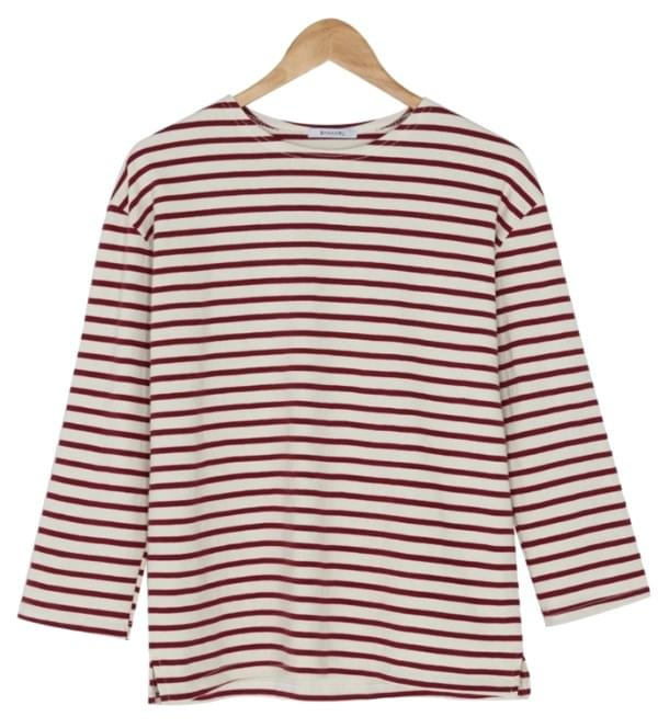 Single Striped Cotton Tee-tee