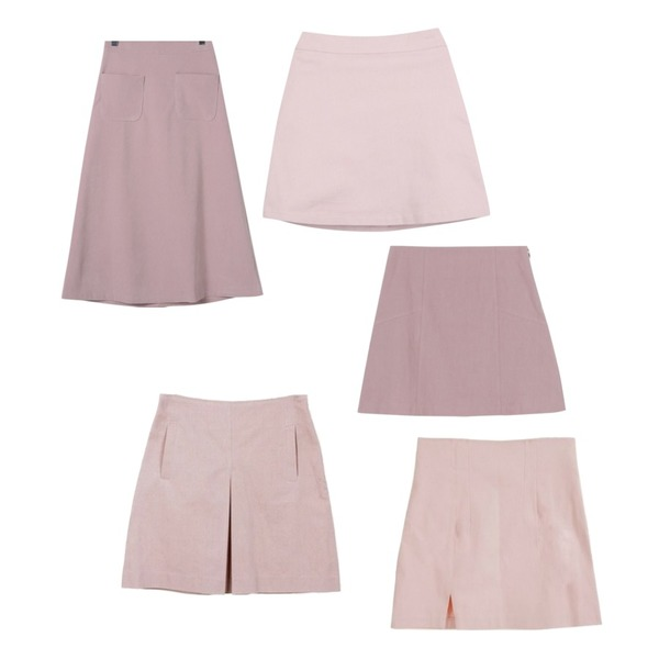 daily monday Point color a-skirt,myblin 불안제로 미니스커트 (4color),OBBANG STYLE 하이디 포켓 롱스커트등을 매치한 코디