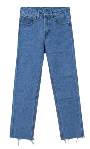 Illusion straight denim pants
