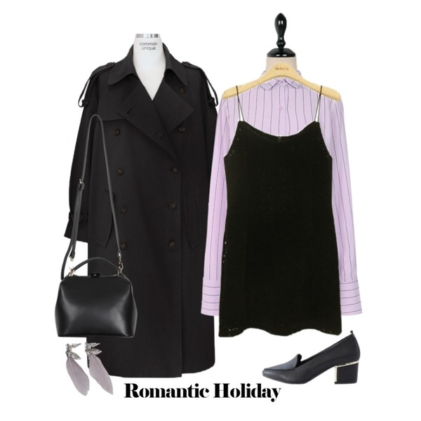 BLINGIT 스웨이드레이스끈원피스,common unique [OUTER] LOOSE FIT DAILY BELT TRENCH COAT,UPTOWN HOLIC 무드모드 nb (*2color등을 매치한 코디