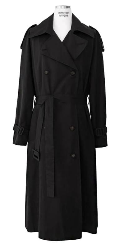DOUBLE RAGLAN BELT TRENCH COAT